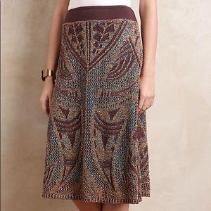 Cecilia Prado Lumi Midi Metallic Sweater Skirt